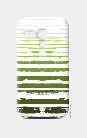Uneven Green Stripes Moto G Cases | Artist : Amantrika Saraogi