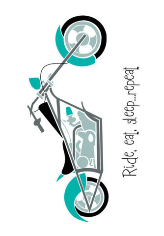 Ride, Eat, Sleep ... Repeat ! Art PosterGully Specials