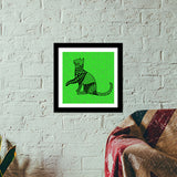 Bela the cat Premium Square Italian Wooden Frames | Artist : Animal kingdom