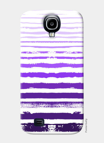 Uneven Purple Stripes Samsung S4 Cases | Artist : Amantrika Saraogi
