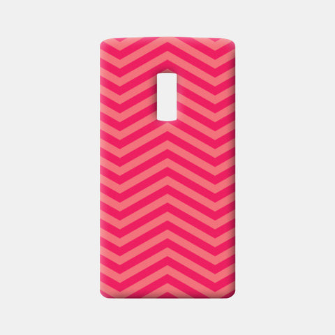 Light Pink and Dark Pink Zig Zag One Plus Two Cases | Artist : Amantrika Saraogi
