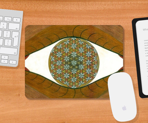 Mousepad, The Flower of Life within the Third Eye Mousepad | Artist : Luke's Art Voyage, - PosterGully