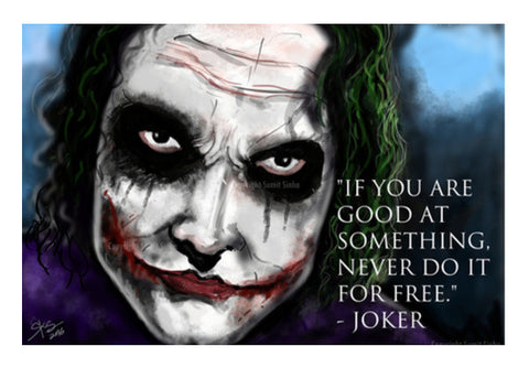 Jokers Advice Wall Art  | Artist : Draw On Demand