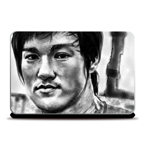 Bruce Lee the Legend Laptop Skins | Artist : Draw On Demand