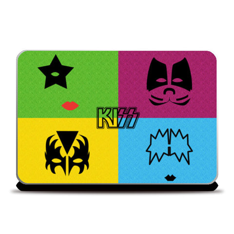 Laptop Skins, KISS Pop Art Laptop Skins | Artist : marika, - PosterGully