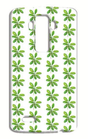Elegant Painted Green Leaves Pattern  LG G4 Cases | Artist : Seema Hooda