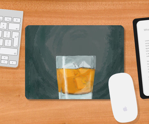Single Malt scotch whiskey Mousepad | Artist : Keshava Shukla