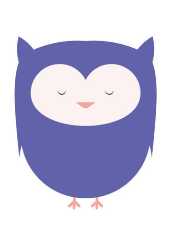 Cute Purple Owl Art PosterGully Specials