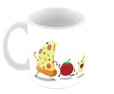 Pizzza Coffee Mugs | Artist : Colour me expressive