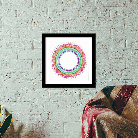CIRLCLE OF LIFE Premium Square Italian Wooden Frames | Artist : The Doodler dentist