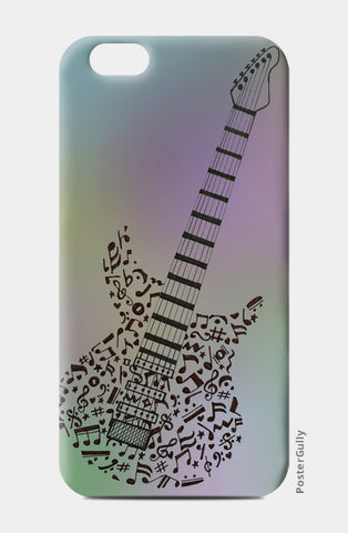 Guitar | Music | Doodle iPhone 6/6S Cases | Artist : Not Just Doodle