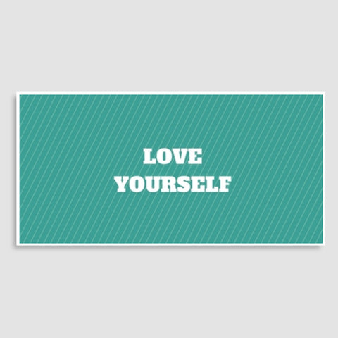 LOVE YOURSELF Door Poster | Artist : Pallavi Rawal