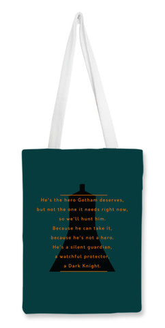 The Dark Knight | Batman | Quote Tote Bags | Artist : Sketch Inspire