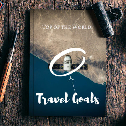 Top of the World - Travel Goals Notebook | Artist : Aditya Gupta