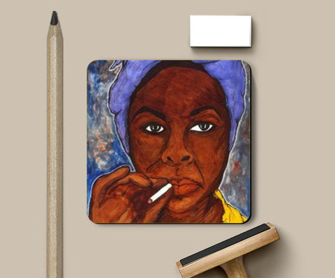What Happened, Miss Simone? Coasters | Artist : Pop Goes The Easel