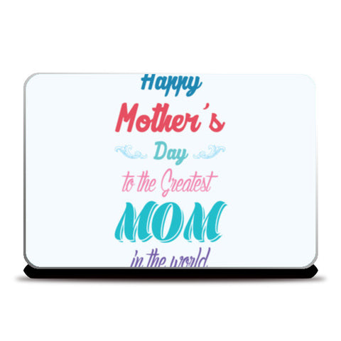 Greatest Mom Typography Laptop Skins | Artist : Designerchennai