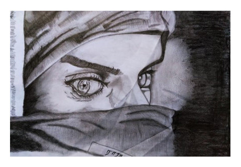 beautiful drawing of a girl Wall Art  | Artist : RAJA S