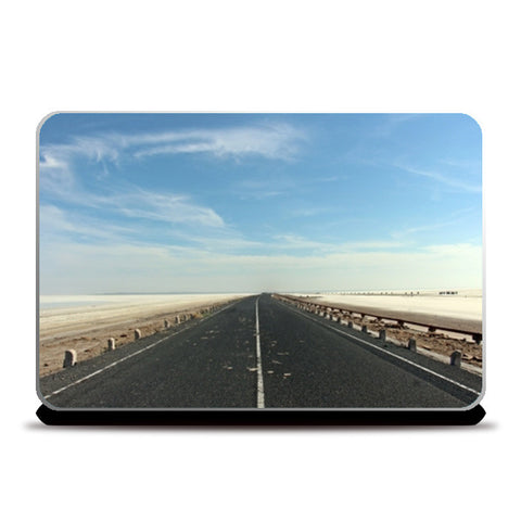 White salt lake road laptop skin Laptop Skins | Artist : The Storygrapher