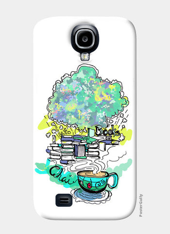 Samsung S4 Cases, Books and Chai Samsung S4 Cases | Artist : Poornima Kumar, - PosterGully