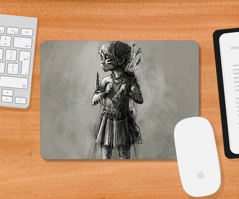 Mousepad, Little warrior Mousepad | Rishi Singh, - PosterGully