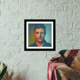 Premium Square Italian Wooden Frames, Dean Winchester Premium Square Italian Wooden Frames | Artist : Delusion, - PosterGully - 1