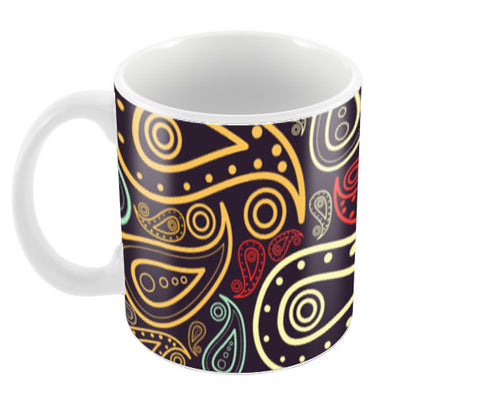 Abstract hand drawn floral illustration on multicolors Coffee Mugs | Artist : Designerchennai
