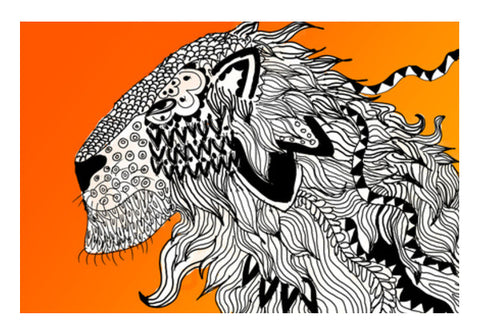 Majestic Lion Print Wall Art  | Artist : Nalin Singh