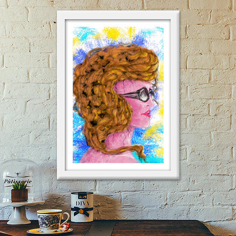 RADIANCE #beauty #girl #summer #colorful #woman #people #painting #sketches Premium Italian Wooden Frames | Artist : Jessica Maria
