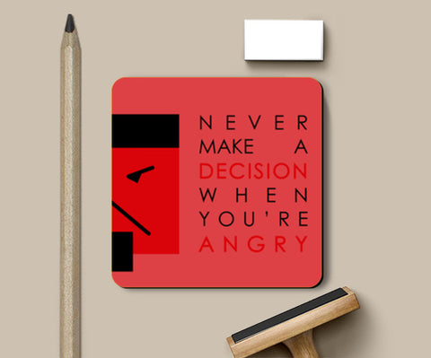 Quote - Red Coasters | Artist : Kaagidham