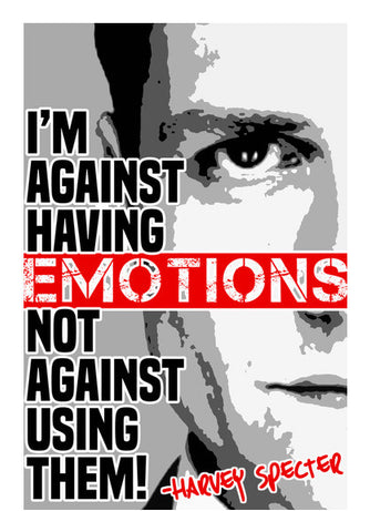 Wall Art, SUITS Harvey Specter Emotions Quote Wall Art | Artist : Rashi Srivastava, - PosterGully