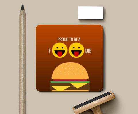 Coasters, Proud to be a foodie |  Coasters | Artist : Nikhil Wad, - PosterGully