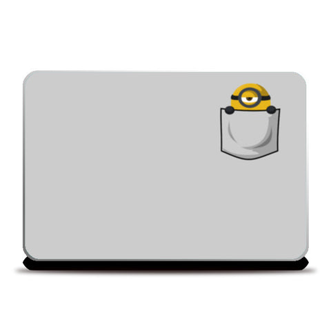Pocket minion Laptop Skins | Artist : Gauri Deshpande