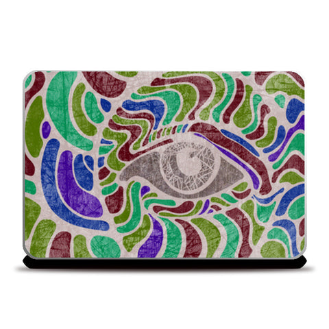 abstract eye colorful vector illustration Laptop Skins | Artist : Simran Sain