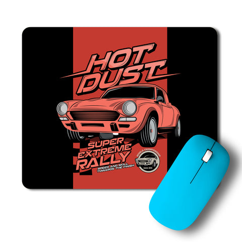 Hot Dust Super Extreme Rally Car Artwork Mousepad