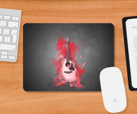 Guitar Splash – Red Mousepad | Artist : Darshan Gajara's Artwork