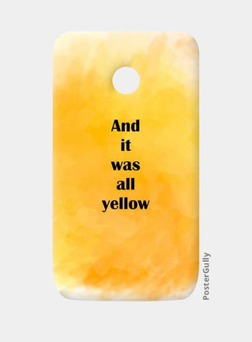 COLDPLAY : YELLOW Moto E Cases | Artist : Kau.Vish