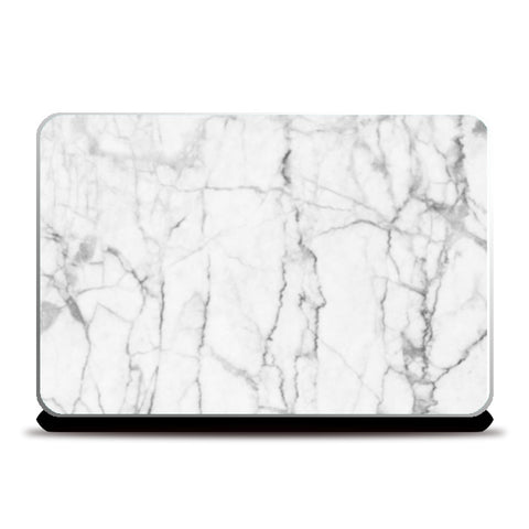 Minimal White Marble Laptop Skins | Artist : Keepcalm Prints