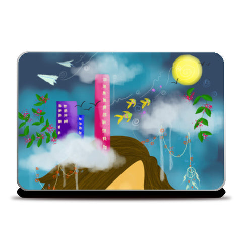 Head in the Clouds Laptop Skins | Artist : Vaishnavi Agarwal