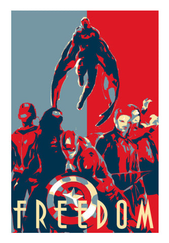 Team Captain America Wall Art | Artist : LinearMan