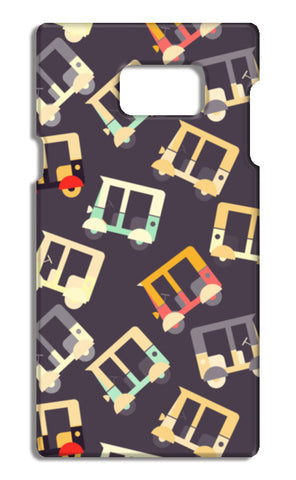 Auto rickshaw quirky pattern Samsung Galaxy Note 5 Cases | Artist : Designerchennai