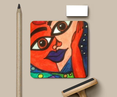 Faces Coasters | Artist : Khwabeeda