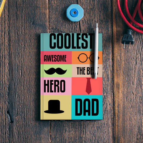 Coolest Dad Notebook | Artist : Designerchennai