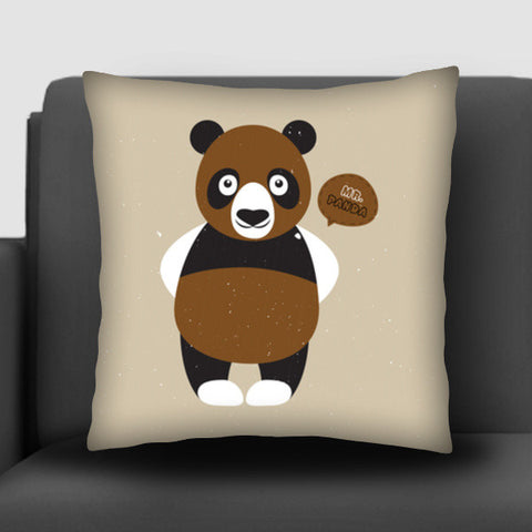 Mr.Panda Cushion Covers | Artist : Designerchennai