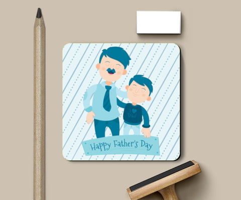 Son With Proud Dad Father's Day | #Father's Day Special  Coasters | Artist : Creative DJ