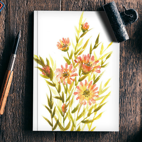 Watercolor Flowers Painting Botanical Art Design Notebook | Artist : Seema Hooda