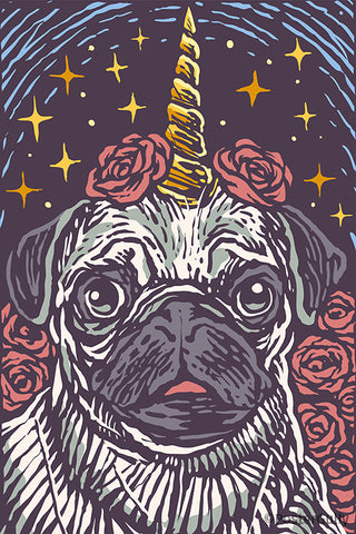 Unicorn Pug Artwork
