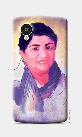 Lata Mangeshkar - Rangeela Re Nexus 5 Cases | Artist : Deepak Gupta