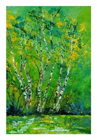 PosterGully Specials, Birchtrees 4551 Wall Art | Artist : pol ledent | PosterGully Specials, - PosterGully