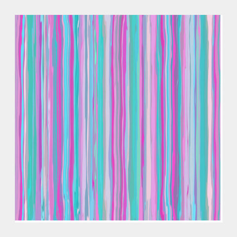 Blue And Pink Vertical Lines Striped Abstract Background   Square Art Prints PosterGully Specials