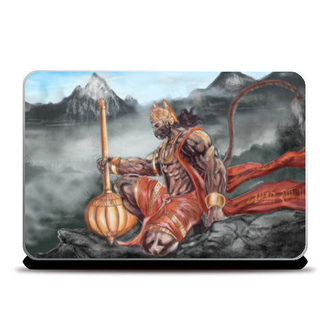 Lord Hanuman -The greatest superhero Laptop Skins | Artist : Draw On Demand